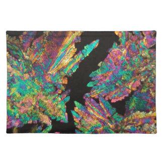 顕微鏡の下のDiclofenacの水晶 ランチョンマット