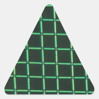 顕微鏡の下のPolylactic酸 三角形シールステッカー
