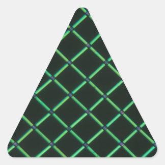 顕微鏡の下のPolylactic酸 三角形シール・ステッカー