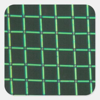 顕微鏡の下のPolylactic酸 正方形シール