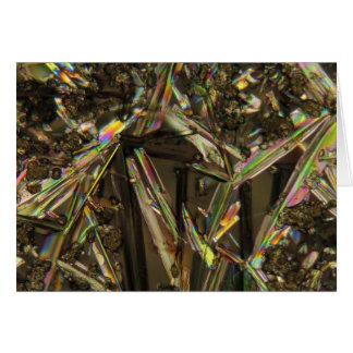 顕微鏡またはアルミン酸塩の下の水晶 カード