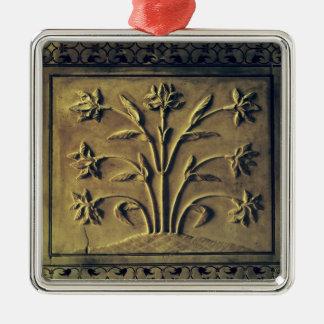 顕花植物、詳細のパネル メタルオーナメント