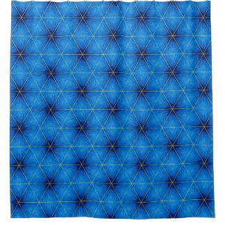 顕著で青いシャワー・カーテン シャワーカーテン