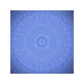 顕著で青い曼荼羅のキャンバスのプリント キャンバスプリント