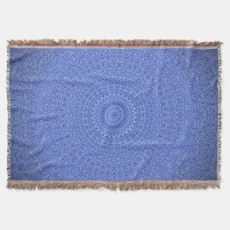 顕著で青い曼荼羅のブランケット スローブランケット