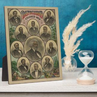 顕著な着色された人Frederick Douglass 1883年 フォトプラーク