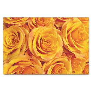 顕著な黄色バラ 薄葉紙