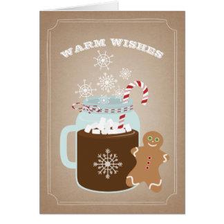願いのジンジャーブレッドマンのクリスマスを暖めて下さい カード