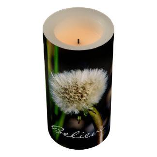 願いを作って下さい、タンポポ包まれたなLEDの蝋燭信じて下さい LEDキャンドル