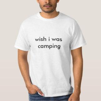 願いIはキャンプしていました Tシャツ