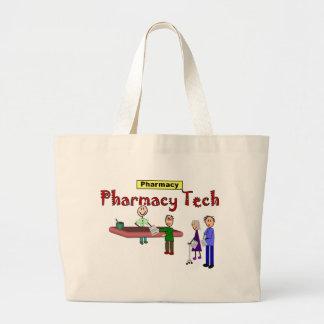 顧客のデザインの薬学の技術 ラージトートバッグ