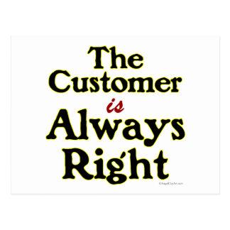 顧客は右のことわざ常にです ポストカード