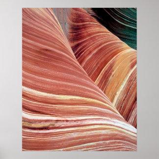 風および水によって腐食させるナバホー人の砂岩 ポスター