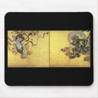 風および雷、c. 1600's日本の神 マウスパッド