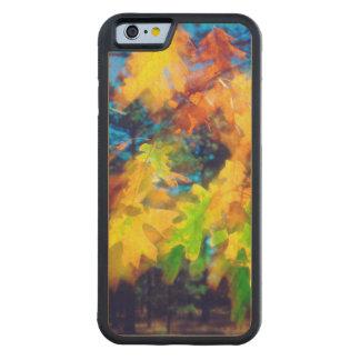 風で吹くカシの葉 CarvedメープルiPhone 6バンパーケース