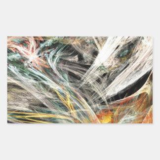 風で引っ掛けられる 長方形シール