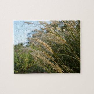 風で揺れている草 ジグソーパズル