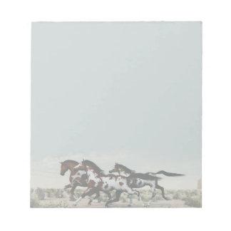 風のような操業-疾走するペンキの馬のメモ帳 ノートパッド