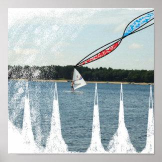 風のサーフィン ポスター