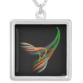 風のフラクタルの芸術の銀のネックレスのKRW色 シルバープレートネックレス