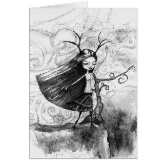 風の女の子 カード