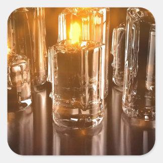 風の抽象的な毎日の蝋燭 スクエアシール