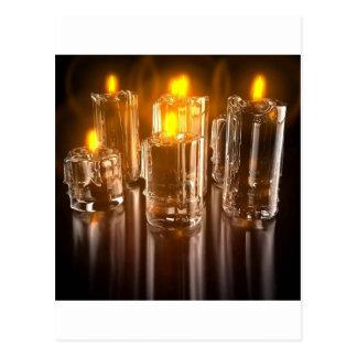 風の抽象的な毎日の蝋燭 葉書き