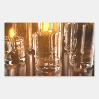 風の抽象的な毎日の蝋燭 長方形シール