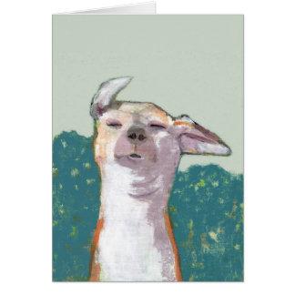 風の挨拶状の犬 グリーティングカード