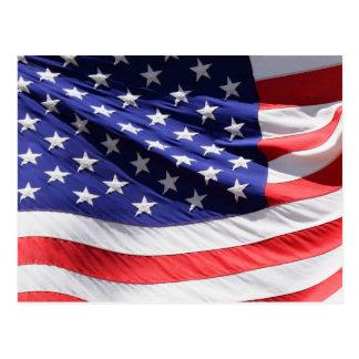 風の米国旗 ポストカード