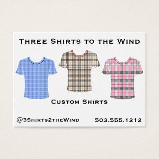 風への3枚のワイシャツ 名刺