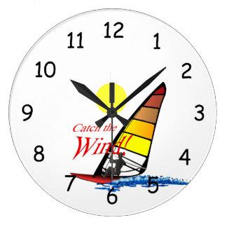 風をつかまえて下さい! ラージ壁時計