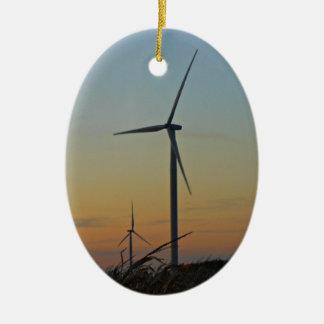 風力発電地帯の休日2012年 セラミックオーナメント