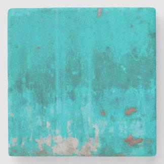 風化させたターコイズのコンクリートの壁の質 ストーンコースター