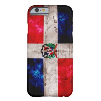 風化させたドミニカ共和国の旗 BARELY THERE iPhone 6 ケース