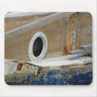 風化させたボート3のマウスパッド マウスパッド