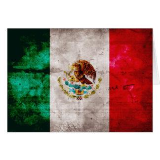 風化させたメキシコ旗 カード