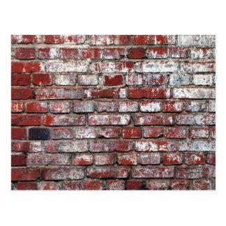風化させたレンガ壁パターン ポストカード