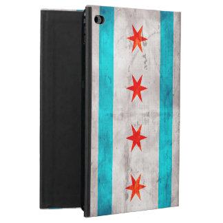 風化させたヴィンテージのシカゴの州の旗 POWIS iPad AIR 2 ケース
