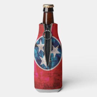 風化させたヴィンテージのテネシー州の州の旗 ボトルクーラー