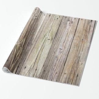 風化させた木製板包装紙 ラッピングペーパー