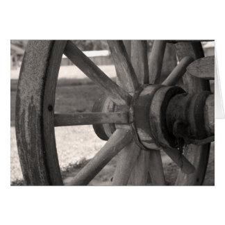 風化させた荷馬車の車輪 カード