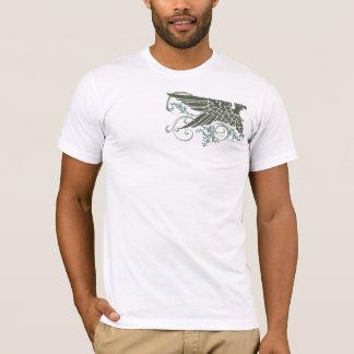 風化させた賢明なワシV Tシャツ