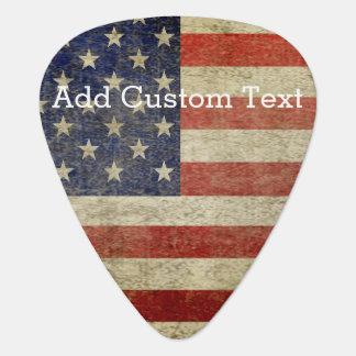 風化させた、動揺してな米国旗 ギターピック