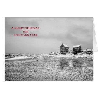 風化はクリスマスカードを居住します カード
