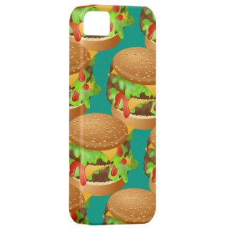風味がよい二重チーズバーガーの壁紙のイラストレーション iPhone SE/5/5s ケース