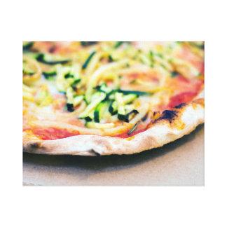 風味がよい野菜ピザ キャンバスプリント
