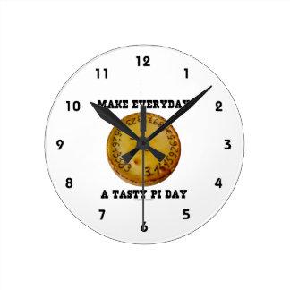 風味がよいPi日(焼いたなパイのPi)作って下さい毎日 ラウンド壁時計