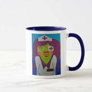 風変りなゾンビのナースのコーヒー・マグ マグカップ