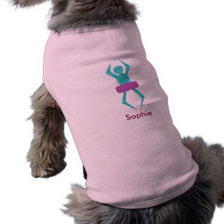 風変りなバレリーナのカスタムな小犬タンク ペット服